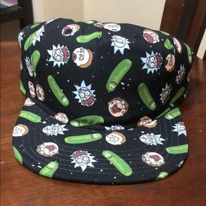 Rick And Morty pickle rick space soft snapback hat